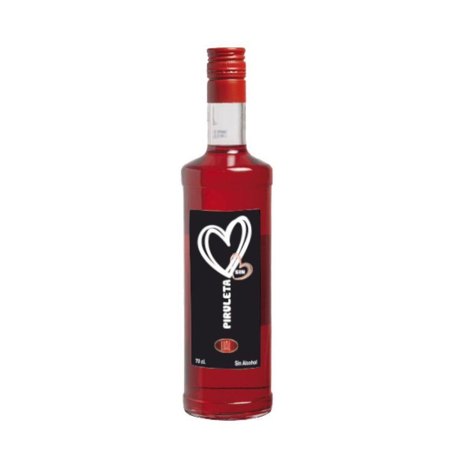 Botella de 70cl de licor de piruleta sin alcohol, una bebida con un sabor irresistible. Producto fabricado en Granada, España. En stock listo para enviar.