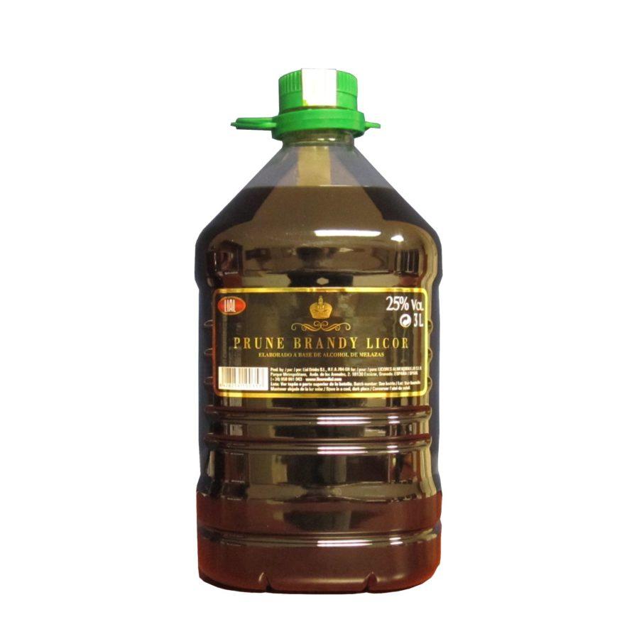 Garrafa de 3 litros de bebida de brandy de ciruelas un producto con 25% producido en Granada. LIAL.