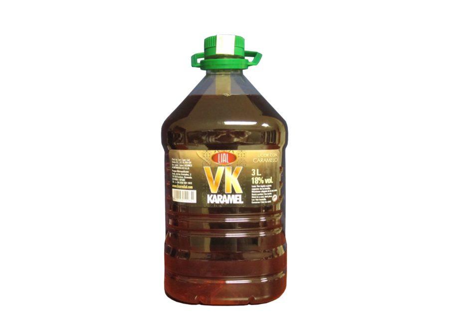 Bebida vk karamel con alcohol en garrafa de 3 litros de licor con caramelo inspirada en vodka caramelo