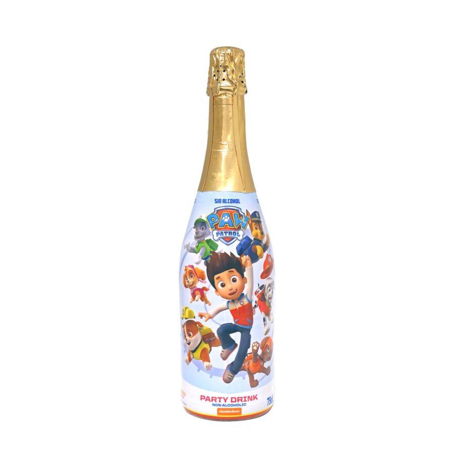 Bebida de Patrulla Canina sin alcohol, botella oficial de Nickelodeon, genial para fiestas infantiles y cumpleaños